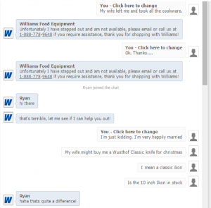 Williams Food Equipment Chat